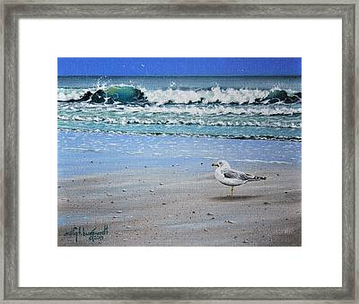 Waves And Rays Framed Print