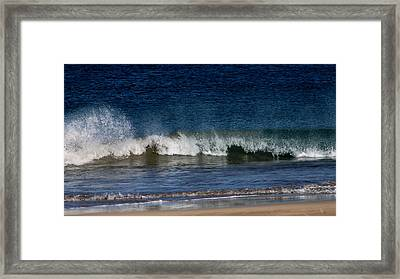 Waves And Surf Framed Print