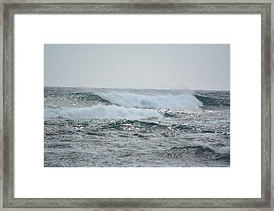 Waves At Koloa Framed Print by P S