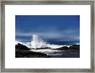 Framed Print featuring the photograph Waves by Athala Carole Bruckner