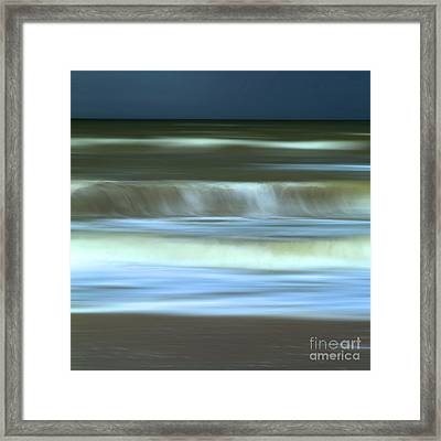 Waves Framed Print by Bernard Jaubert