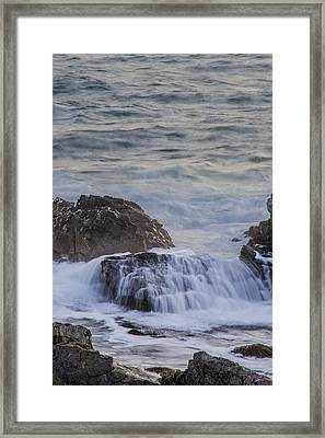 Waves Breaking Off Marginal Way Framed Print