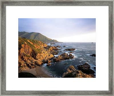 Waves Breaking On Garrapata Beach Framed Print by Panoramic Images