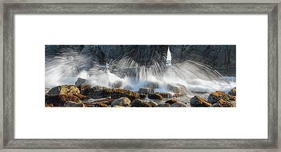 Waves Breaking On Rocks, Harris Beach Framed Print by Panoramic Images