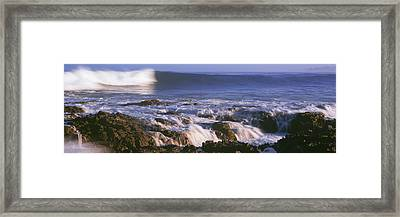 Waves Breaking On The Beach, Playa Los Framed Print by Panoramic Images