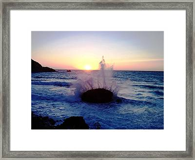 Waves Framed Print by Constantinos Charalampopoulos