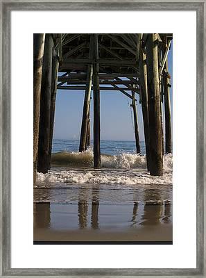 Waves Crash In Framed Print