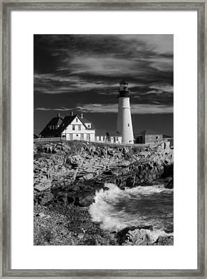 Waves Crashing Framed Print by Guy Whiteley
