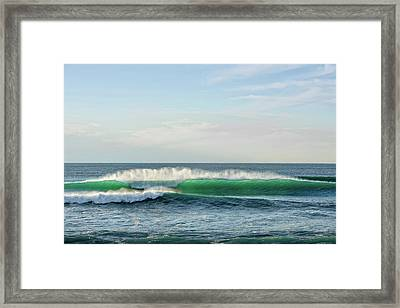Waves Crashing In The Pacific Ocean Framed Print