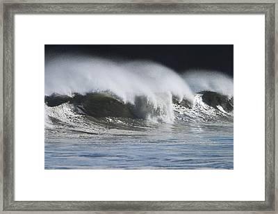 Waves Crashing On Mill Bay Beach Kodiak Framed Print by Kevin Smith