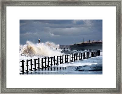 Waves Crashing, Sunderland, Tyne Framed Print by John Short