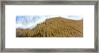 Waves Create Intricate Fanciful Framed Print