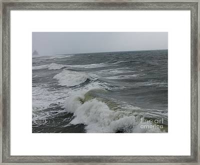 Waves  Framed Print by Deborah DeLaBarre