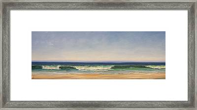 Waves Framed Print by Dianna Poindexter