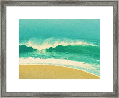 Framed Print featuring the painting Waves by Douglas MooreZart