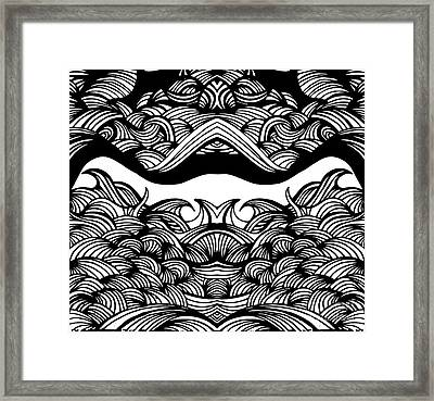 Waves Framed Print by HD Connelly