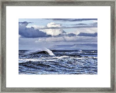 Waves In Easkey Framed Print by Tony Reddington