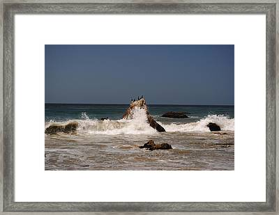 Framed Print featuring the photograph Waves In Malibu by Robert  Moss