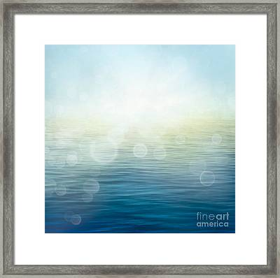 Waves In Motion Blur. Framed Print by Mythja  Photography