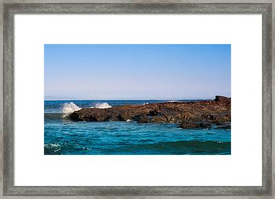 Waves In Quilty Framed Print by Sylwia Klimczak