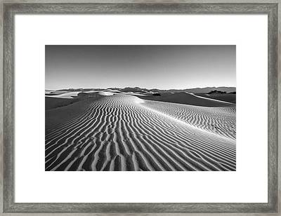 Waves In The Distance Framed Print