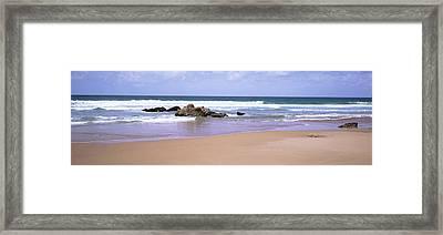 Waves In The Sea, Algarve, Sagres Framed Print