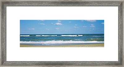 Waves In The Sea, Cape Hatteras, Outer Framed Print by Panoramic Images