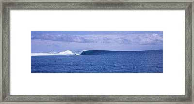 Waves In The Sea, Indonesia Framed Print