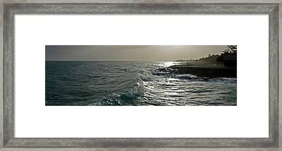 Waves In The Sea, Negril, Westmoreland Framed Print