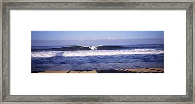 Waves In The Sea, North Shore, Oahu Framed Print by Panoramic Images