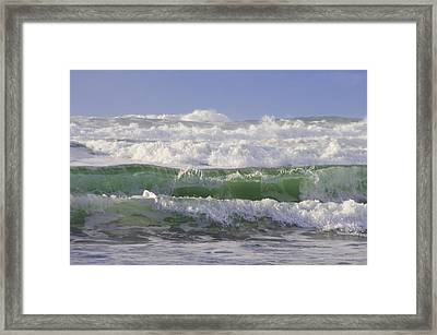 Waves In The Sun Framed Print