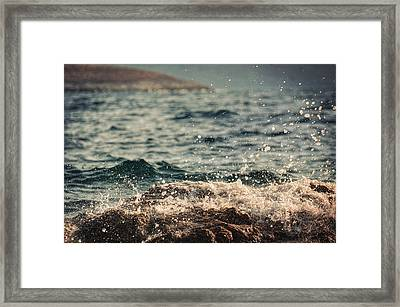 Waves In Time I Framed Print