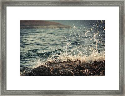 Waves In Time II Framed Print