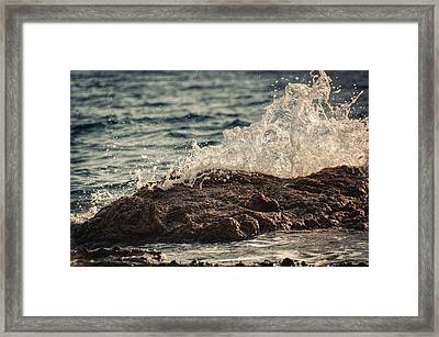 Waves In Time Iv Framed Print