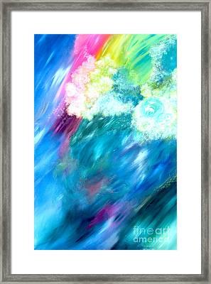 Waves Framed Print by Jason Stephen