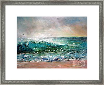 Framed Print featuring the painting Waves by Jieming Wang