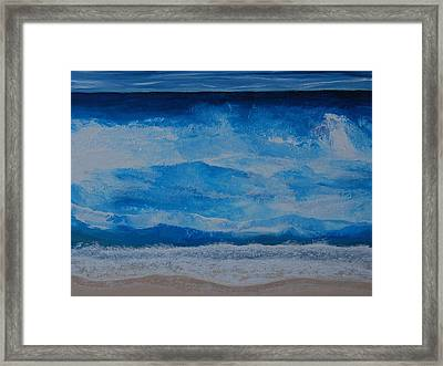 Framed Print featuring the painting Waves by Linda Bailey