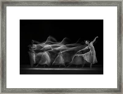 Waves Of Balerina Framed Print by Antonyus Bunjamin (abe)
