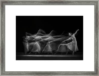 Waves Of Balerina Framed Print