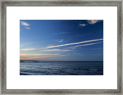 Waves Of Blues Framed Print by CJ Schmit