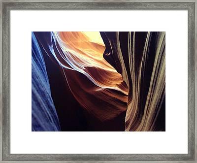 Waves Of Color Framed Print by J Allen