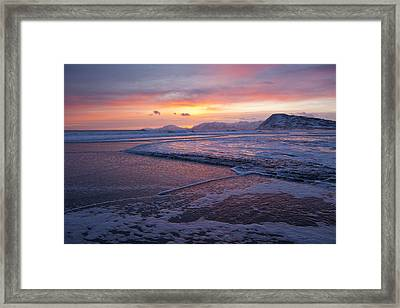 Waves Of Color Framed Print by Tim Grams