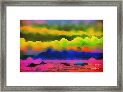 Waves Of Colors Framed Print by Odon Czintos