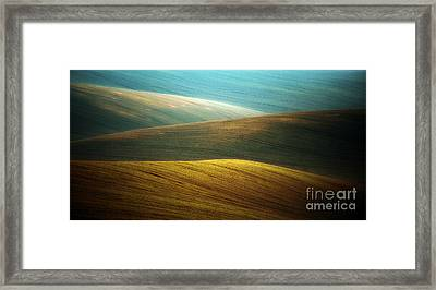 Waves Of Colours Framed Print