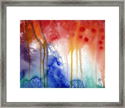 Waves Of Emotion Framed Print