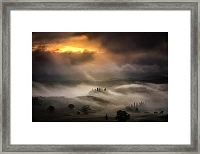 Waves Of Fog Framed Print