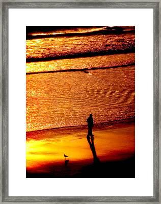 Waves Of Gold Framed Print