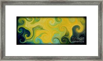 Waves Of Gold Framed Print by Michael Grubb