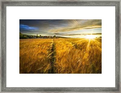 Waves Of Grain Framed Print by Debra and Dave Vanderlaan