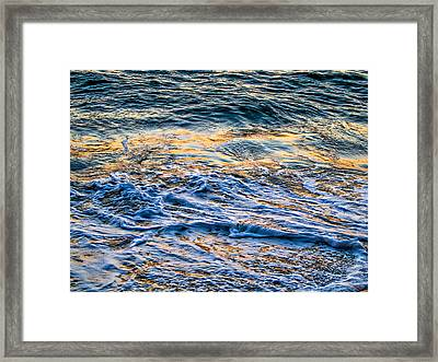 Waves Of Pacific Ocean Framed Print by SM Shahrokni